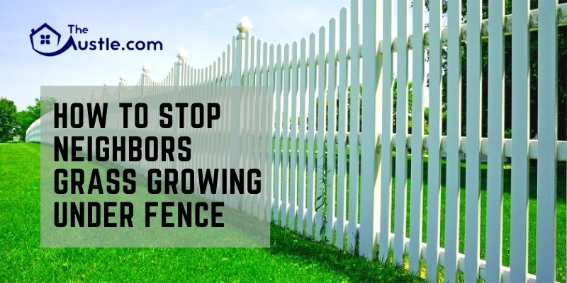How To Stop Neighbors Grass Growing Under Fence